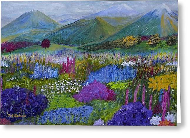 Alpine Wild Flowers Greeting Card