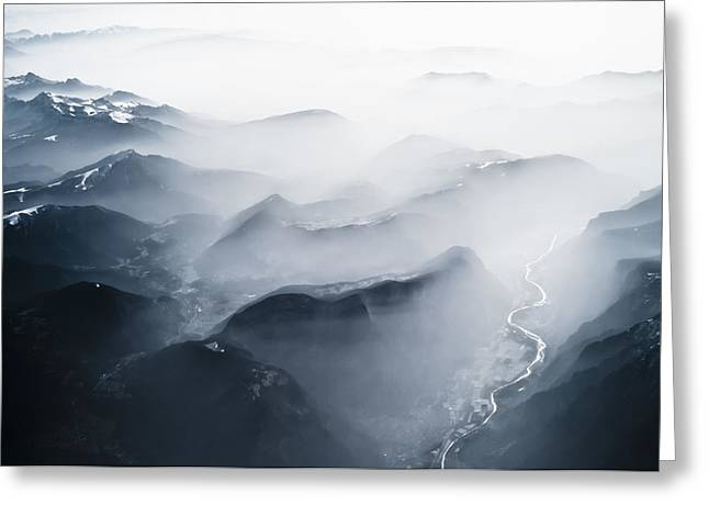 Alps Over Italy Greeting Card by Chris Halford