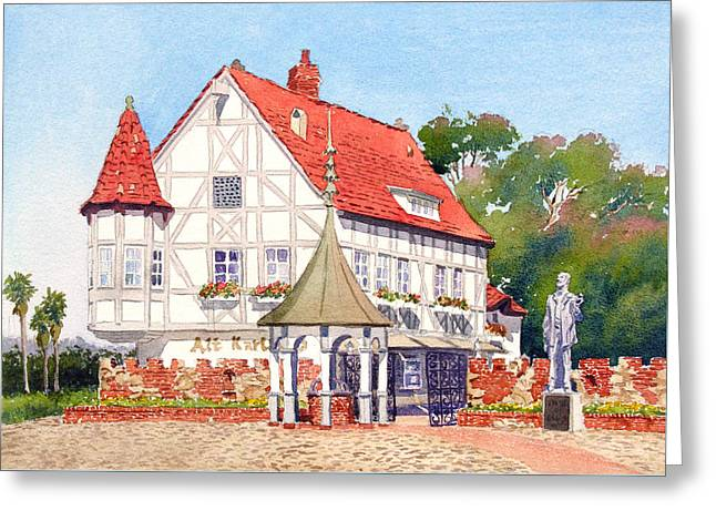 Alt Karlsbad California Greeting Card by Mary Helmreich