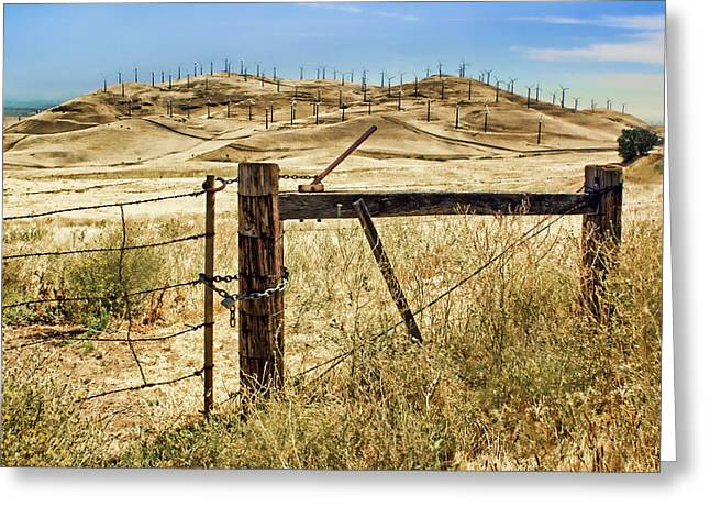 Altamont Pass - Locked In Greeting Card by Nikolyn McDonald