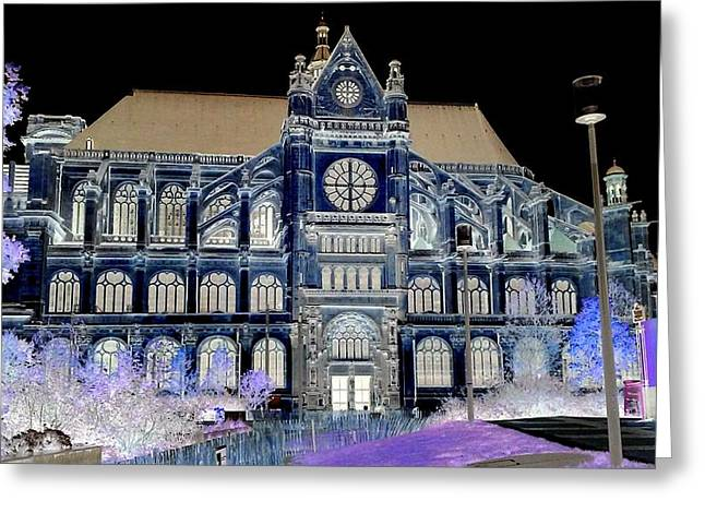Altered Image Of Saint Eustache In Paris France Greeting Card by Richard Rosenshein