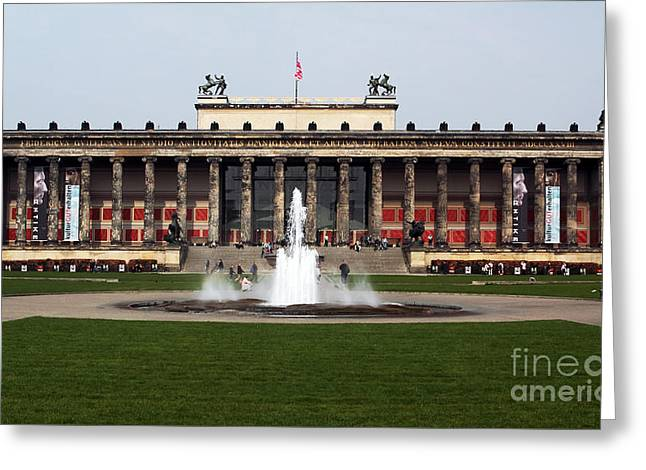 Altes Museum In Berlin Greeting Card by John Rizzuto