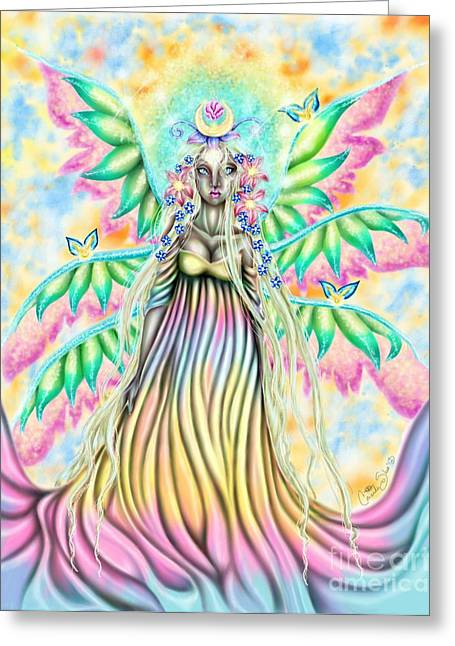 Altheia's Light Greeting Card by Coriander  Shea