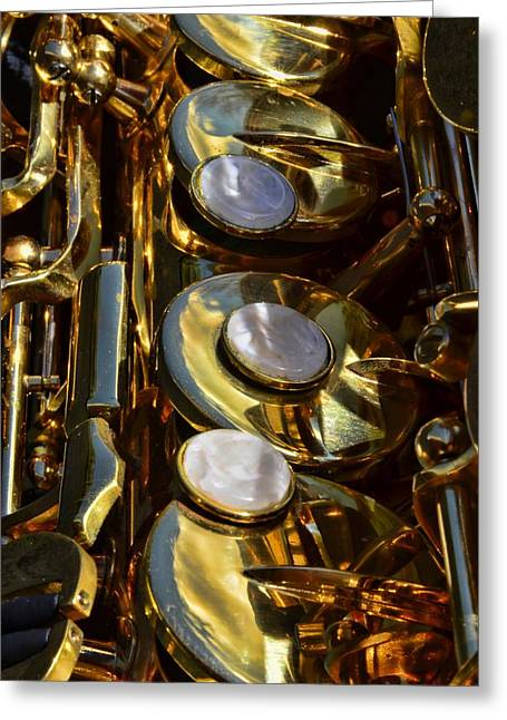 Alto Sax Reflections Greeting Card by Ken Smith