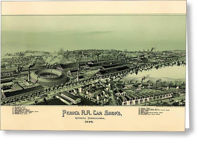 Altoona Pennsylvania 1895 Greeting Card by Mountain Dreams