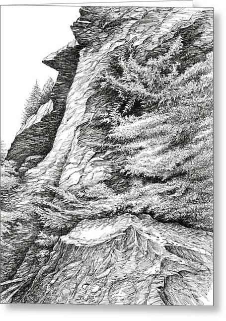 Alum Bluff Trail Crag Greeting Card by Bob  George