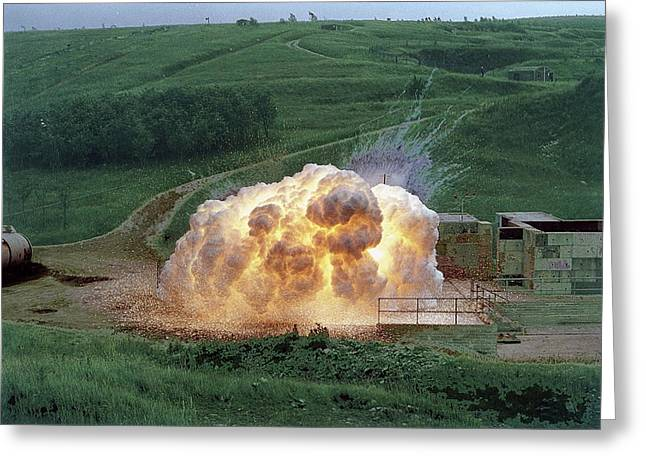 Aluminium Powder Explosion Greeting Card by Crown Copyright/health & Safety Laboratory Science Photo Library