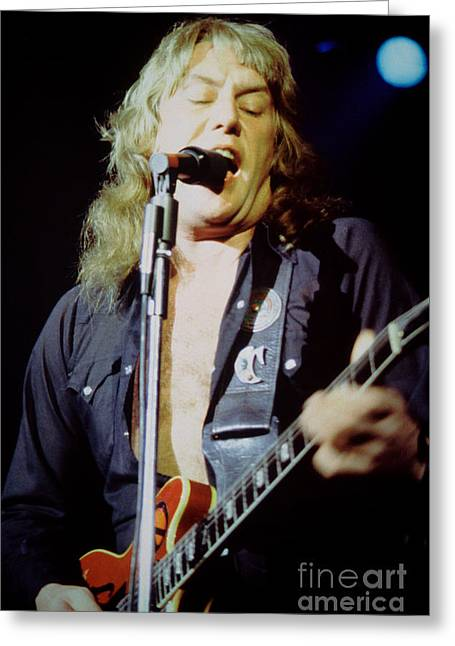 Alvin Lee - Ten Years Later At Oakland Auditorium 1979 Greeting Card