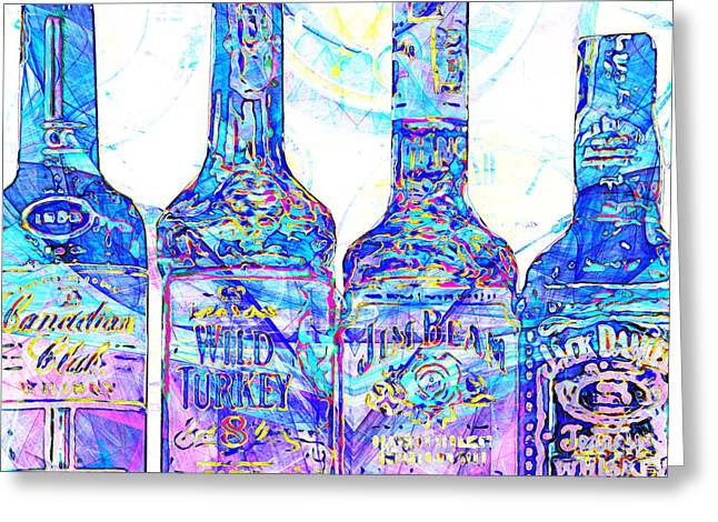 Always Carry A Bottle Of Whiskey In Case Of Snakebite 20140917 V1 Square Greeting Card by Wingsdomain Art and Photography