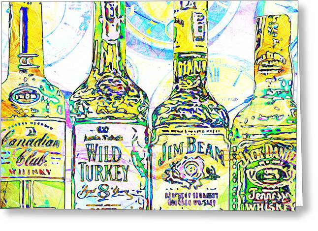 Always Carry A Bottle Of Whiskey In Case Of Snakebite 20140917 V2 Square Greeting Card by Wingsdomain Art and Photography