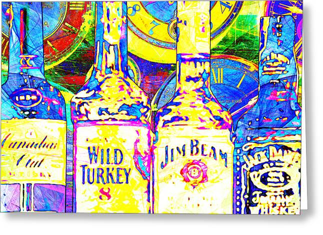 Always Carry A Bottle Of Whiskey In Case Of Snakebite 20140917 V3 Square Greeting Card by Wingsdomain Art and Photography