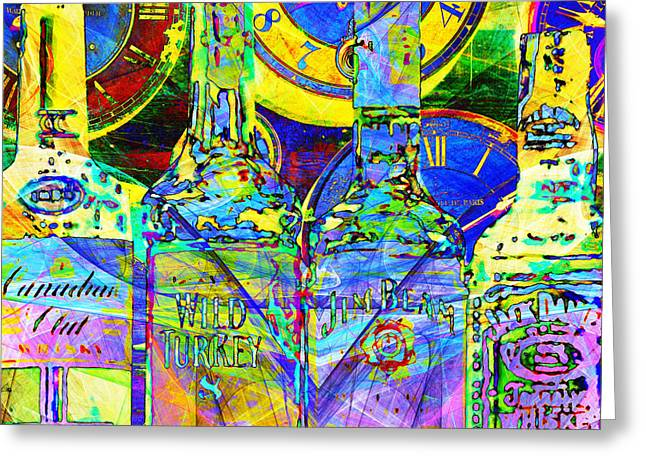Always Carry A Bottle Of Whiskey In Case Of Snakebite 20140917 V4 Square Greeting Card by Wingsdomain Art and Photography