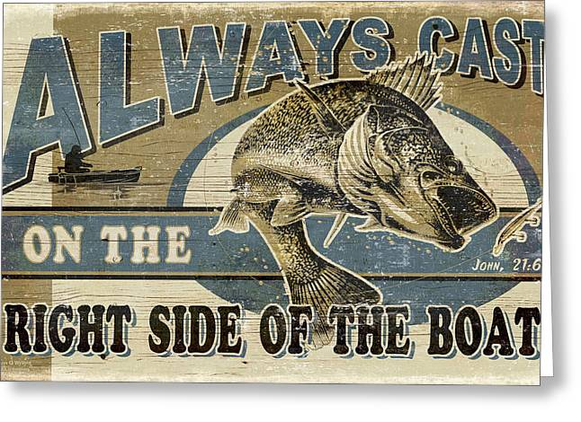 Always Cast Sign Greeting Card