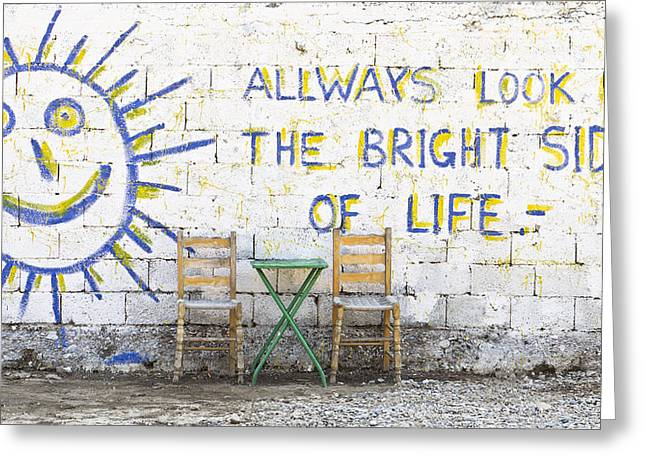 Always Look On The Bright Side Of Life Greeting Card by Tom Gowanlock