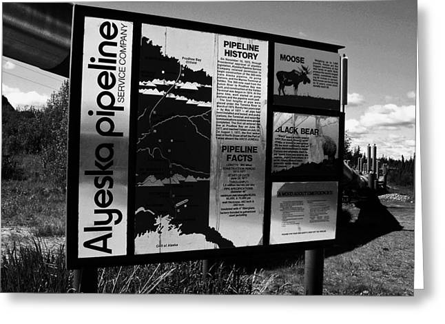 Alyeska Pipeline Greeting Card by Juergen Weiss