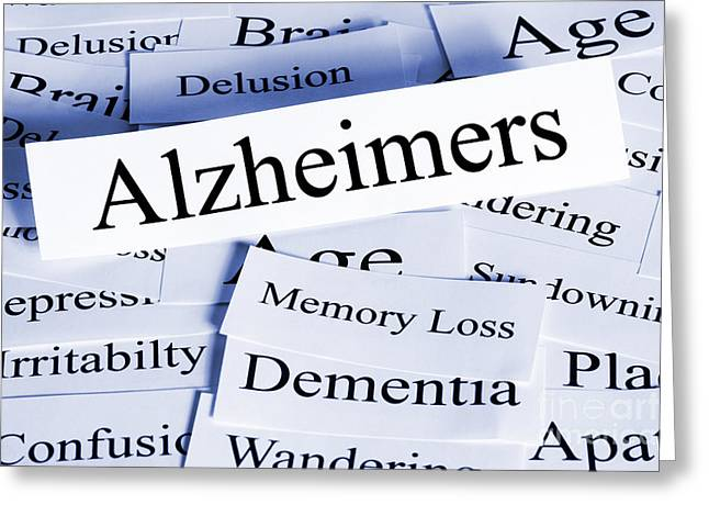 Alzheimers Concept Horizontal Greeting Card