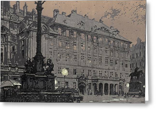 Am Hof Vienna 1904 Greeting Card