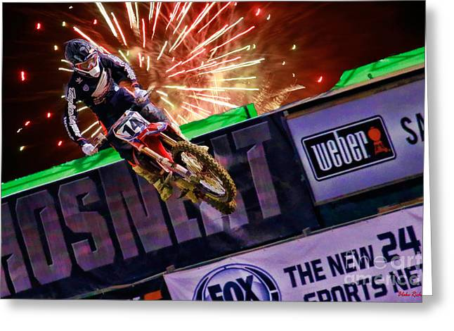 Ama 450sx Supercross Cole Seely Greeting Card