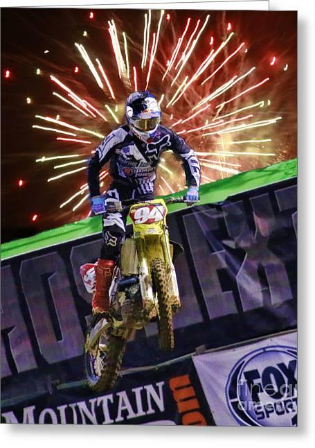 Ama 450sx Supercross Ken Roczen Greeting Card