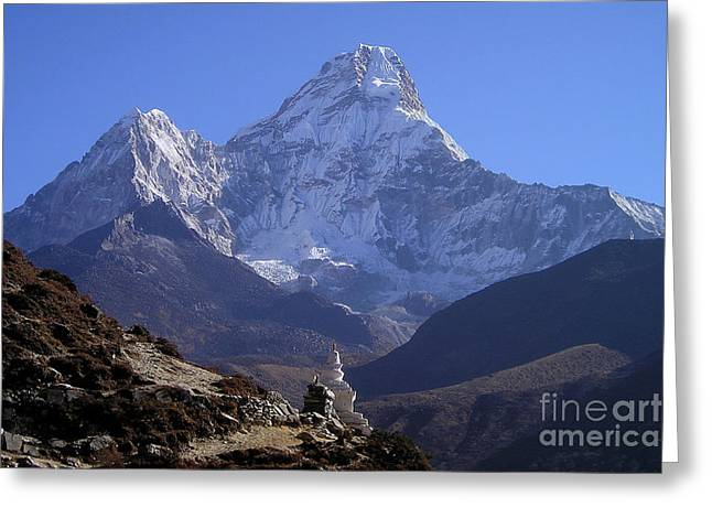 Ama Dablam Nepal Greeting Card by Jan Wolf