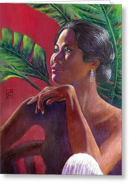 Ama Lia Greeting Card by Jack Adams