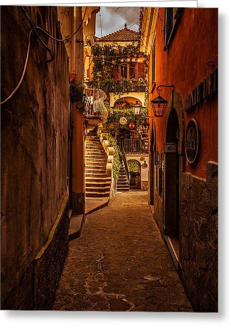 Amalfi Alleyway Greeting Card
