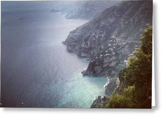 Amalfi Coast And Beyond Greeting Card by H Hoffman