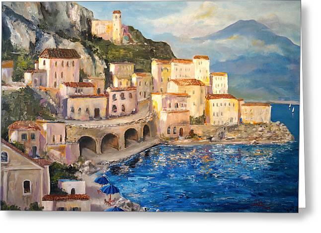 Amalfi Coast Highway Greeting Card