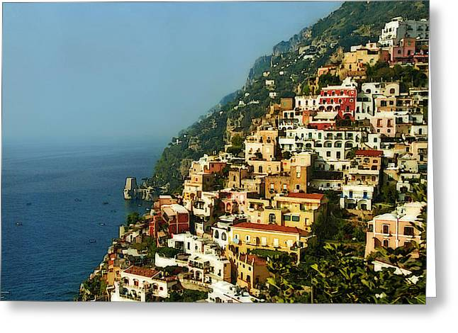 Amalfi Coast Hillside II Greeting Card