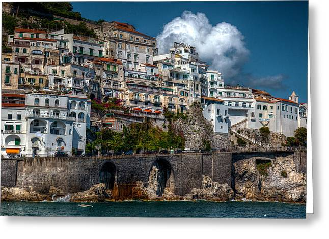 Greeting Card featuring the photograph Amalfi Coast by Uri Baruch