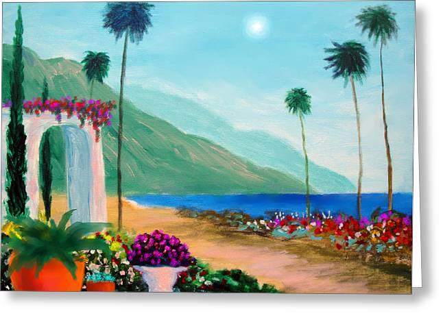 Amalfi Colors Greeting Card by Larry Cirigliano