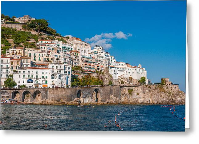 Amalfi Hills Greeting Card by Gurgen Bakhshetsyan