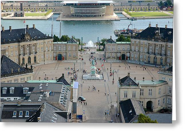 Greeting Card featuring the photograph Amalienborg Palace Copenhagen by Mary Lee Dereske