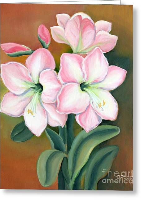 Amaryllis For Ladies Greeting Card