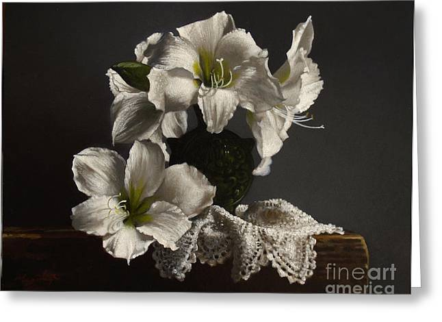 Amaryllis Study No. 3 Greeting Card