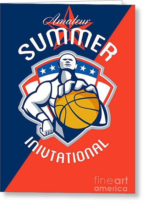Amateur Summer Invitational Basketball Poster Greeting Card