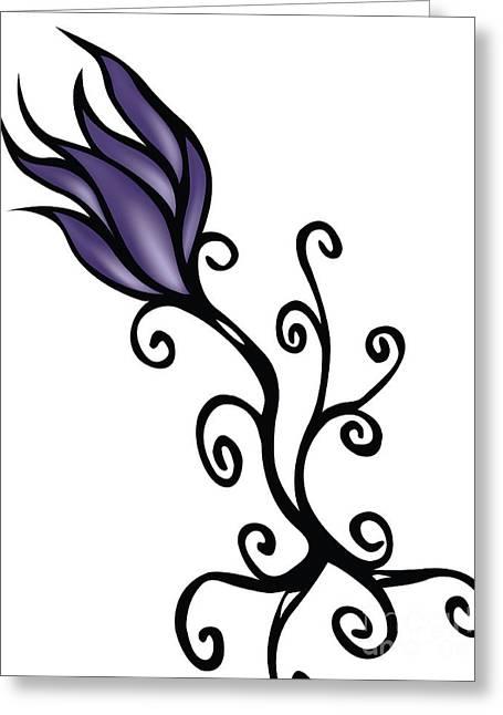 Amathist Rose Greeting Card