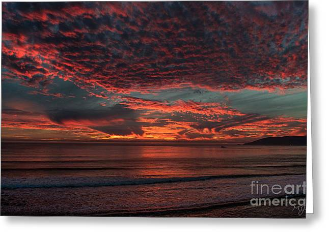 Amazing Blazing Sunset Greeting Card