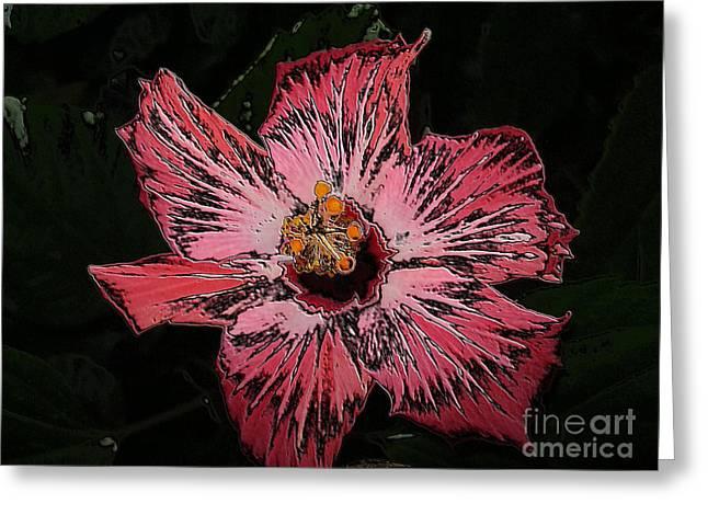 Greeting Card featuring the digital art Amazing Flower by Oksana Semenchenko