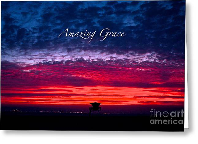 Greeting Card featuring the photograph Red Sky At Night by Margie Amberge
