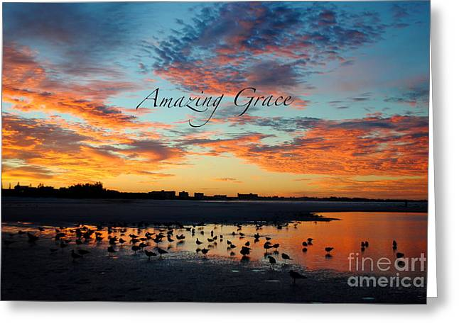 Greeting Card featuring the photograph Amazing Grace On Siesta Key by Margie Amberge