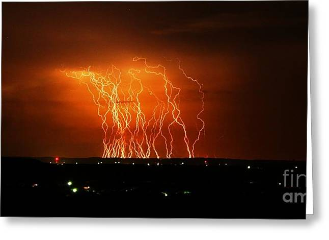 Amazing Lightning Cluster Greeting Card