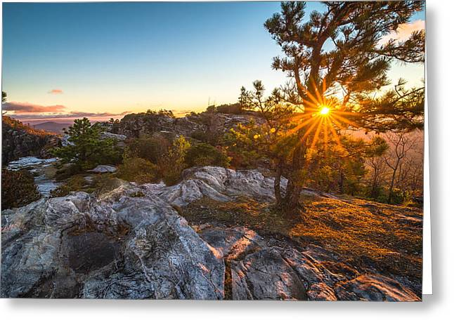 Amazing Linville Sunrise Greeting Card by Serge Skiba