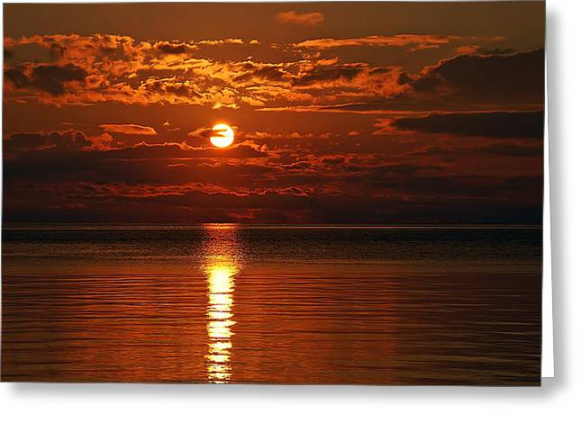 Amazing Sunset Greeting Card by Aimee L Maher Photography and Art Visit ALMGallerydotcom