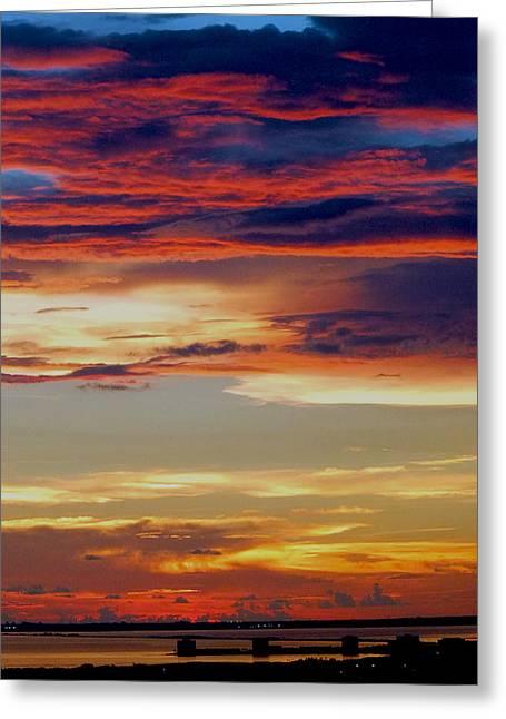 Amazing Sunset Greeting Card