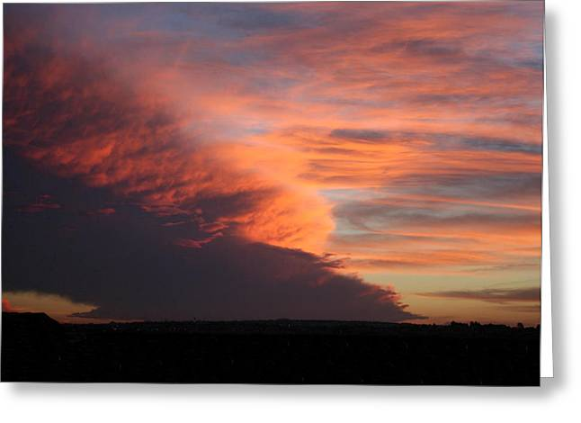 Amazing Sunset Greeting Card by Troy Caperton