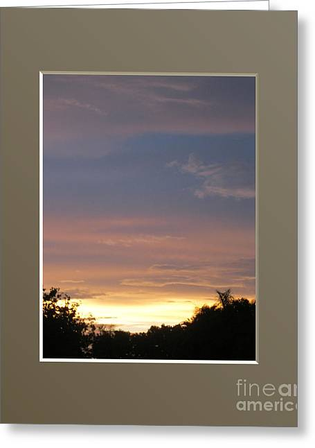 Amazing Sunset View Greeting Card