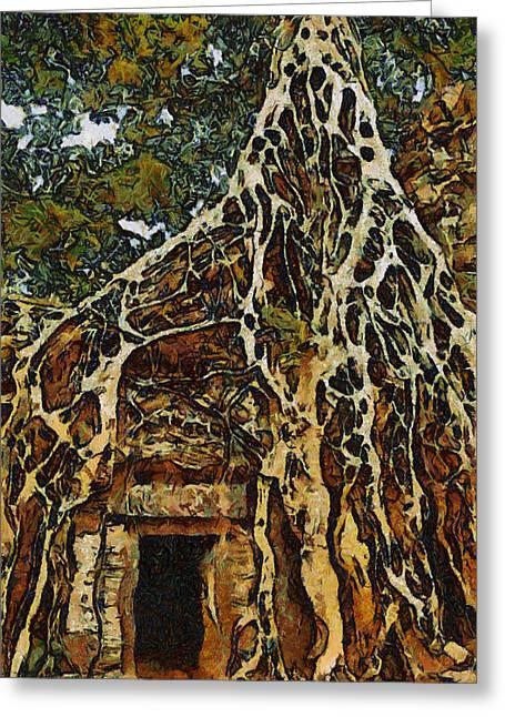 Amazing Tree Greeting Card by Teara Na