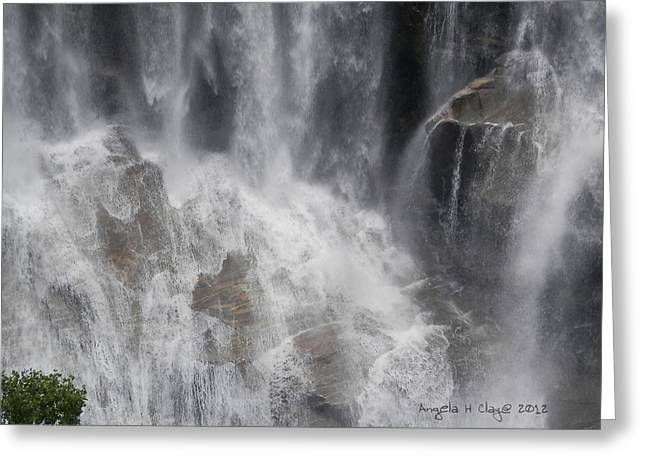 Greeting Card featuring the digital art Amazing Waterfall by Angelia Hodges Clay