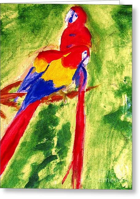 Amazon Jungle Birds Greeting Card